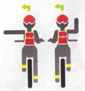 Сигнал велосипедиста на левый поворот картинка