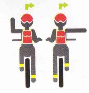 Сигнал велосипедиста на правый поворот картинка