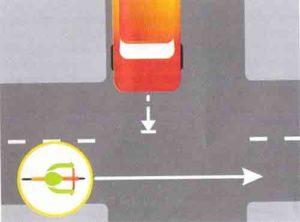 Действие велосипедиста на перекрестке равнозначных дорог картинка