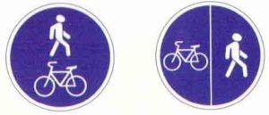 Дорожный знак пешеходная и велосипедная дорожка картинка